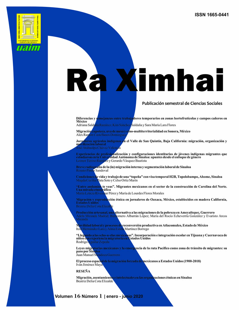 portada Revista Ra Ximhai vol 16 num 1 ene jun 2020